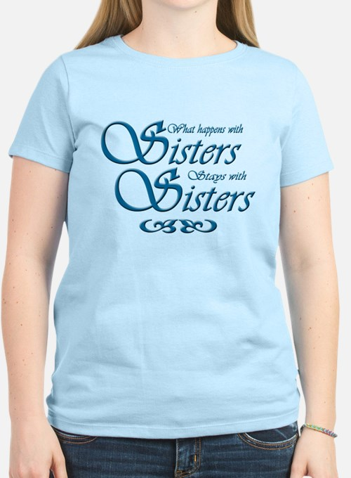 Sisters in Turquoise T-Shirt