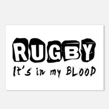 Rugby Designs Postcards (Package of 8)