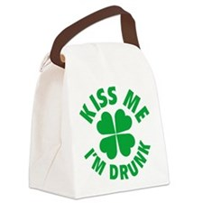 Kiss Me I'm Drunk Canvas Lunch Bag