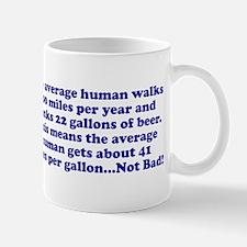 Human 41 miles per gallon Small Small Mug