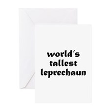 World's tallest leprechaun Greeting Card
