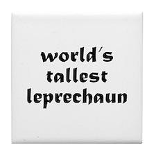 World's tallest leprechaun Tile Coaster