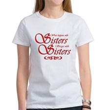 Sisters in Red T-Shirt