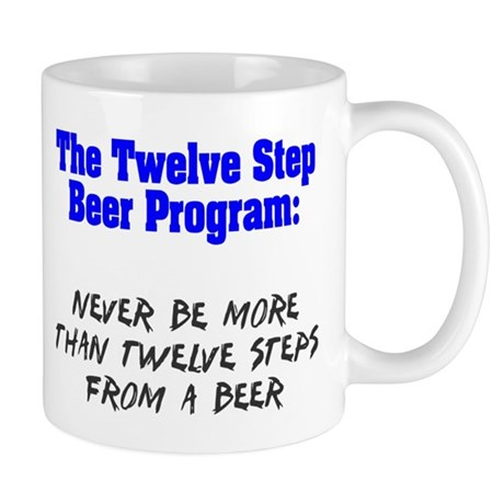 Twelve Step Beer Program Mug