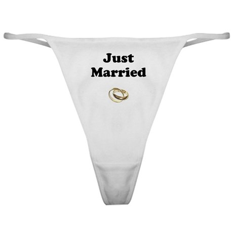 Just Married With Rings Classic Thong