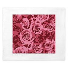 Pink Roses King Duvet