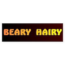 BEARY HAIRY 7 Bumper Bumper Sticker