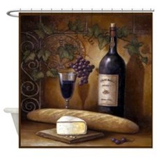 Cute Wine tasting Shower Curtain