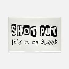 Shot Put Designs Rectangle Magnet