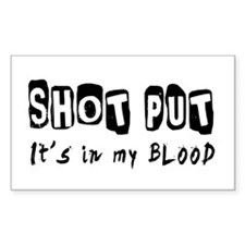 Shot Put Designs Decal
