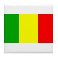 Mali Malian Blank Flag Tile Coaster