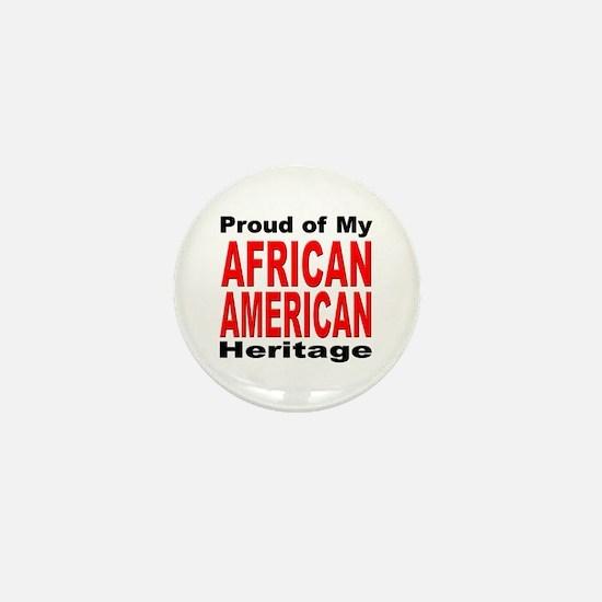 Proud African American Heritage Mini Button