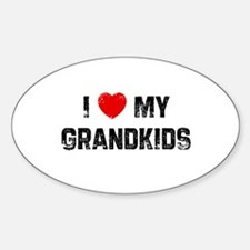 I * My Grandkids Oval Decal