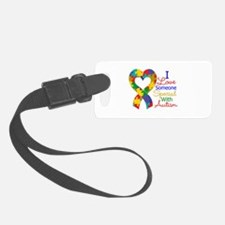 I Love Someone With Autism Luggage Tag