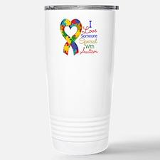 I Love Someone With Autism Travel Mug