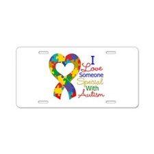 I Love Someone With Autism Aluminum License Plate