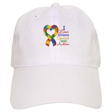 I Love Someone With Autism Baseball Cap