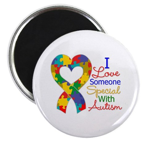 "I Love Someone With Autism 2.25"" Magnet (10 pack)"