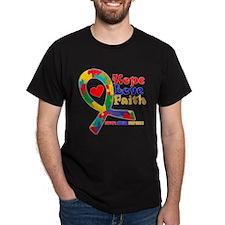 Hope Love Faith Autism T-Shirt