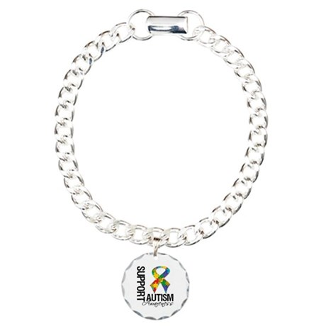 Support Autism Awareness Charm Bracelet, One Charm