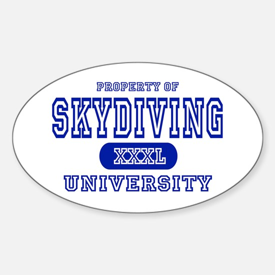 Skydiving University Oval Decal