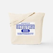 Skydiving University Tote Bag