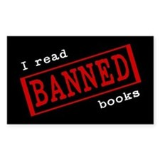 Banned Books Rectangle Decal