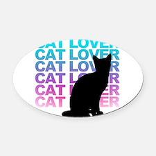 cat lover Oval Car Magnet
