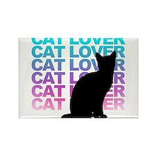 cat lover Rectangle Magnet