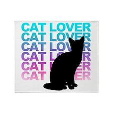 cat lover Throw Blanket
