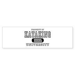 Kayaking University Bumper Bumper Sticker