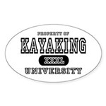 Kayaking University Oval Sticker