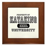 Kayaking University Framed Tile