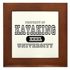 Kayaking University Framed Tile