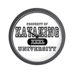 Kayaking University Wall Clock