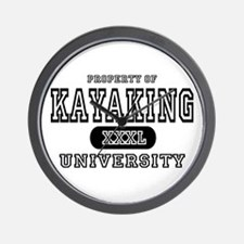 Kayaking University Wall Clock