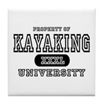 Kayaking University Tile Coaster