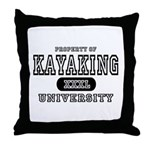Kayaking University Throw Pillow