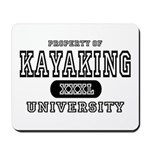 Kayaking University Mousepad