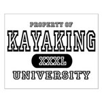 Kayaking University Small Poster
