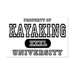 Kayaking University Mini Poster Print