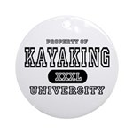 Kayaking University Ornament (Round)
