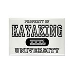 Kayaking University Rectangle Magnet