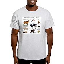 Wisconsin State Animals T-Shirt