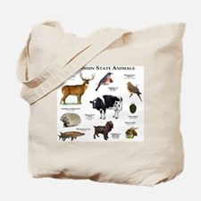 Wisconsin State Animals Tote Bag