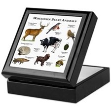 Wisconsin State Animals Keepsake Box