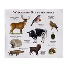 Wisconsin State Animals Throw Blanket