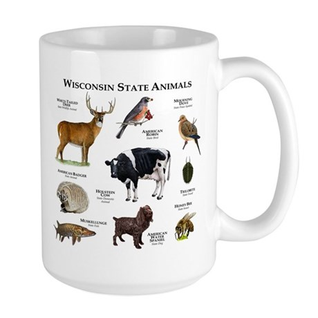 Wisconsin State Animals Large Mug