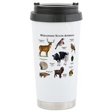 Wisconsin State Animals Travel Mug