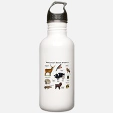 Wisconsin State Animals Water Bottle